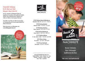 back2school Nachhilfe Flyer Deutsch