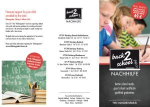 back2school Nachhilfe Flyer Englisch