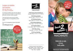 back2school Nachhilfe Flyer Türkisch