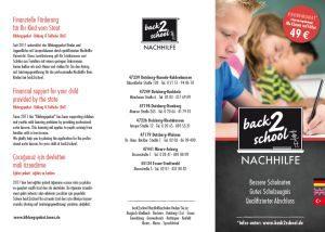 back2school Nachhilfe Flyer mehrsprachig